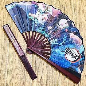 Quạt Kimetsu No Yaiba Thanh Gươm Diệt Quỷ cầm tay anime chibi nan 31cm cổ trang cổ điển cosplay (MẪU GIAO NGẪU NHIÊN)