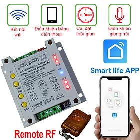 BỘ ĐIỀU KHIỂN WIFI 4 THIẾT BỊ WIFI 4CH Smart life APP Có Remote RF