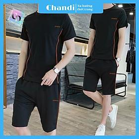 Đồ Bộ Thể Thao Nam thương hiệu Chandi, Đồ Bộ Mặc Nhà chất liệu thun cao cấp mát mẻ, thấm hút mồ hôi tốt MS908