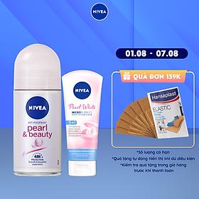 [Mua 1 tặng 1] Lăn Ngăn Mùi NIVEA Pearl & Beauty Ngọc Trai Quyến Rũ (50ml) - 83735 -Tặng Sữa Rửa Mặt 20gr