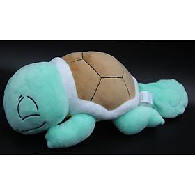 Gấu bông/ Thú Nhồi Bông Pokemon squirtle - Rùa Kini Nằm Ngủ 34 cm (Tặng kèm móc khóa da bò thật màu ngẫu nhiên) LZ00168