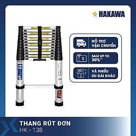 Thang nhôm rút đơn Nhật Bản HAKAWA HK138 ( 3,8M ) - Phân phối chính hãng - Nhỏ gọn tiện lợi