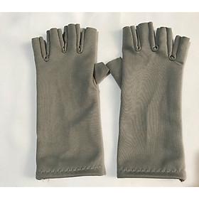 Bao tay găng tay Nữ chất liệu vải su cắt 5 ngón chống nắng giữ ấm lái xe, sử dụng điện thoại - B01