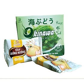 Rong nho tươi tách nước Okinawa 100g (5 gói x 20g) + tặng kèm 2 gói bánh trứng Gia Khánh