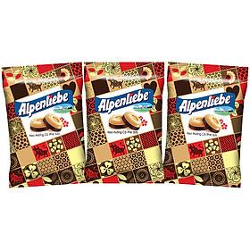 Combo 3 Gói Kẹo Alpenliebe Hương Cà Phê Sữa (Gói 110 viên)