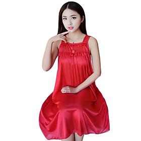 Đầm (váy) ngủ 2 dây phi lụa JS-SX866
