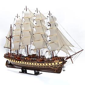 Mô hình tàu thuyền France II thân 1m loại 1 gỗ muồng đen MNV-TB01/1