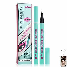Viết lông kẻ mí Mira true lasting eyeliner Hàn Quốc 0.8 ml # màu xanh tặng kèm móc khoá