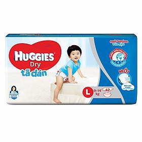 Tã dán siêu thấm Huggies Dry Jumbo size L gói 42 miếng