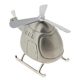Lovely Cartoon Helicopter Piggy Bank Money Box Saving Pot for Home Decor