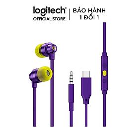 Tai nghe chơi game IN-EAR Logitech G333 - Kết nối giắc 3.5mm và USB type C 4.9 - Màu tím - Hàng chính hãng
