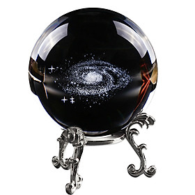 Crystal Bal Quartz Ball Creative Laser Engraved Miniature for Astrophile Gift