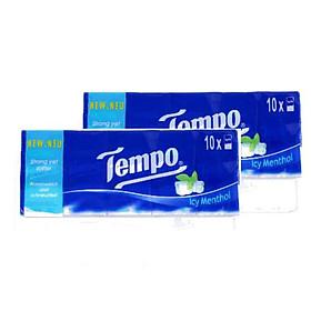 Combo 2 lốc khăn giấy Tempo Icy Menthol 30x10x8