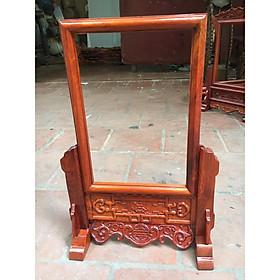 Khung ảnh thờ gỗ Hương dạ triện  ( lồng ảnh 20x30 )