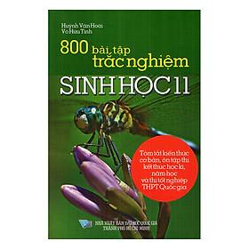 800 Bài Tập Trắc Nghiệm Sinh Học Lớp 11