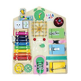 Đồ chơi giáo dục, Bảng bận rộn Busy Board CHÍNH HÃNG Lalala Baby tổng hợp với hơn 20 món đồ chơi, hoàn thiện vận động tinh, bé phát triển toàn diện. Dành cho bé từ 7 tháng tuổi trở lên.