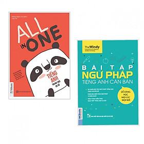Combo Sách Học Tiếng Anh Cho Học Sinh Trung Học: Bài Tập Ngữ Pháp Tiếng Anh Căn Bản + All In One - Tiếng Anh Trung Học Cơ Sở (tặng kèm postcard green life)