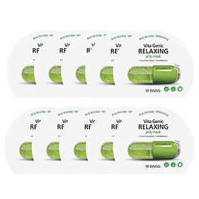 Combo 10 Mặt nạ dưỡng ẩm Banobagi Vita Genic Relaxing Jelly Mask (Vitamin B) 30ml x10