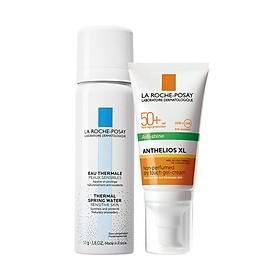 Bộ đôi Kem chống nắng kiểm soát bóng nhờn La Roche-Posay Anthelios Dry Touch 50ml - Tặng Nước khoáng làm dịu da 50ml