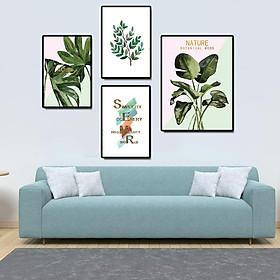 Tranh treo tường, tranh canvas TB10 bộ 4 tấm