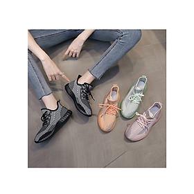 Giày Thể Thao Hoa Cúc Style Sneaker Nữ Vải Canvas Đế Phản Quang - MSP 3225