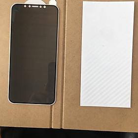 Miếng dán màn hình chống nhìn trộm iphone X/XS ( tặng kèm miếng dán lưng)