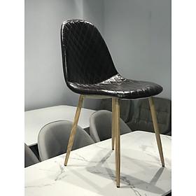 Ghế ăn 3B6813 nhập khẩu cao cấp - chân sắt sơn tĩnh điện giả vân gỗ