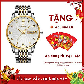Đồng Hồ Nam Cao Cấp Chính Hãng Pagini Pa8222 Dây Thép Không Gỉ - Chống Nước 3ATM - Kim Dạ Quang Thời Thượng