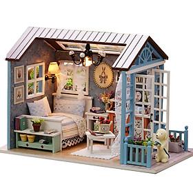 Nhà búp bê Ngôi nhà thu nhỏ lắp ghép Blue Time Z