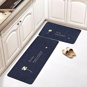 Bộ 2 thảm trải sàn nhà bếp mẫu mới cao cấp đế cao su chống trơn trượt tiện dụng - giao họa tiết và màu sắc ngẫu nhiên
