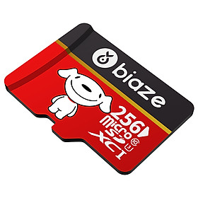 BIAZE 256GB TF (MicroSD) memory card U3 C10 4K reading speed 100MB / s mobile phone TF memory card is widely compatible with high-speed enhanced version - TF256