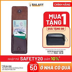Ví Bóp Nam Nữ Nhỏ Gọn Thời Trang Độc Đáo Da Bò Handmade Galaxy Store GVU01 (11x8cm)