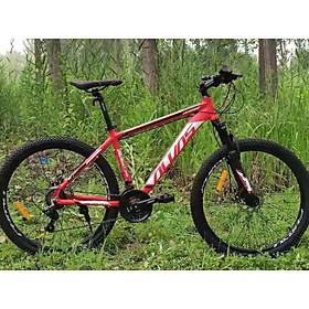 Xe đạp thể thao địa hình MTB ALVAS nhôm 26 inchs – Đỏ