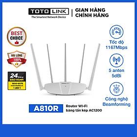 Router Wifi Băng Tầng Kép Totolink A810R - Hàng Chính Hãng