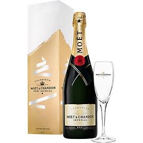 Rượu Champagne Moët & Chandon Impérial Brut - Phiên Bản End Of Year - 750ml – Có Hộp + Ly
