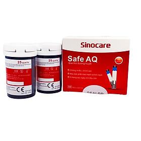Combo hộp 50 que thử đường huyết và 50 kim lấy máu cho máy đo đường huyết Sinocare Safe AQ