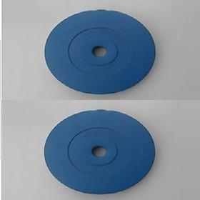 Bộ Tạ Đĩa Bọc Nhựa 6KG ( 3kg/tạ) - Màu Xanh Dương