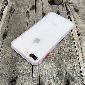 Ốp lưng chống sốc dành cho iPhone 7 Plus vs iPhone 8 Plus nút bấm màu đỏ - Màu trắng