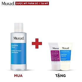 Toner dành cho da mụn Murad Clarifying 180ml TẶNG sữa rửa mặt Murad AHA/BHA 15ml + Clarifying Cleanser 15ml