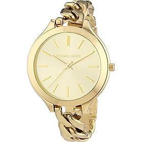 Michael Kors Slim Runway Champagne Dial Gold-Tone Ladies Watch MK3222