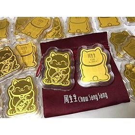 Mèo Chiêu Tài Vàng 24k Ốp Điện Thoại- Mèo Thần Tài Sáng