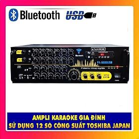 Ampli Bluetooth Karaoke ATANNOII PA - 5000USB - Amply 12 sò lớn - nút nhôm - có quạt tản nhiệt - Hàng chính hãng