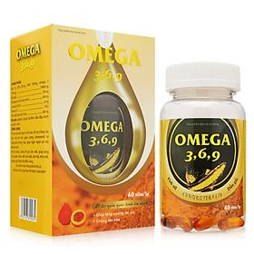 Thực phẩm chức năng Omega 3, 6, 9 bổ não, tăng trí nhớ, sáng mắt ( 60 Viên )