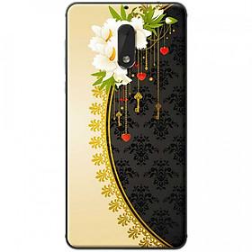 Hình đại diện sản phẩm Ốp lưng dành cho Nokia 6 mẫu Hoa trắng vàng đen