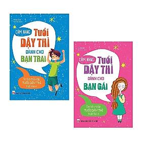 Combo 2 Cuốn Cẩm Nang Tuổi Dậy Thì Dành Cho Bạn Trai Và Bạn Gái Tặng Kèm BookMath Kẽm