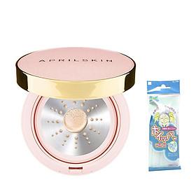 Pink Case] Phấn Nước Aprilskin Magic Essence Shower Cushion SPF50/PA++++ 13g + Tặng Kèm 1 Túi Lưới Rửa Mặt Tạo Bọt-5