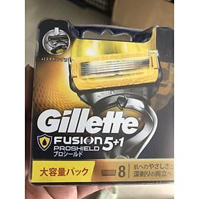 Hộp 8 Lưỡi dao cạo râu Gillette Fusion Proshield Nhật bản nội địa