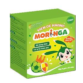Viên đề kháng Moringa - Giúp tăng sức đề kháng, giảm nguy cơ mắc các bệnh đường hô hấp cho trẻ em - Hộp 8 gói