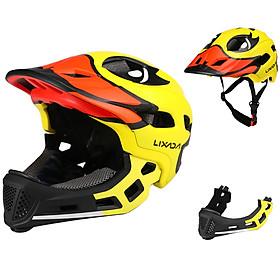 Lixada Kids Detachable Full Face Helmet Children Sports Safety Helmet for Cycling Skateboarding Roller Skating