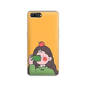 Ốp lưng dẻo cho điện thoại Realme C1 - 01184 7899 GIRL01 - in hình chibi dễ thương - Hàng Chính Hãng